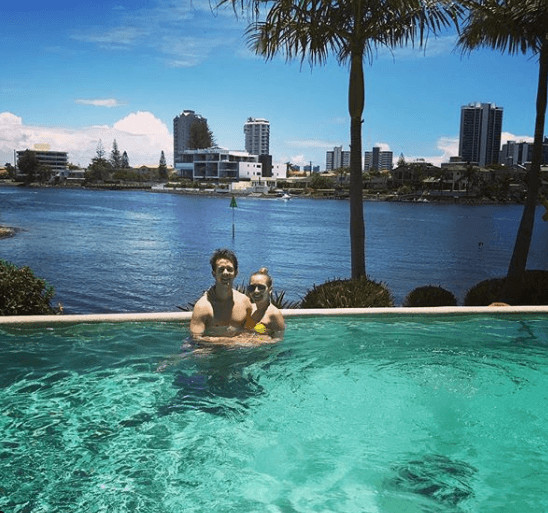 Robbie Kruse Vacation With Wife