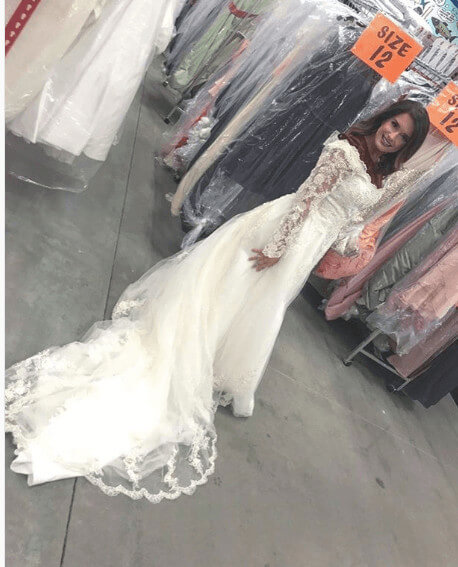 Erica Francis Trying Her Wedding Dress