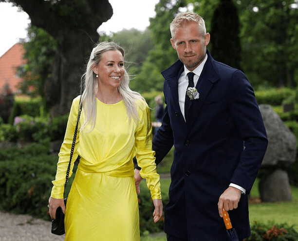 Peter Schmeichel Son And Son's Wife In His Wedding