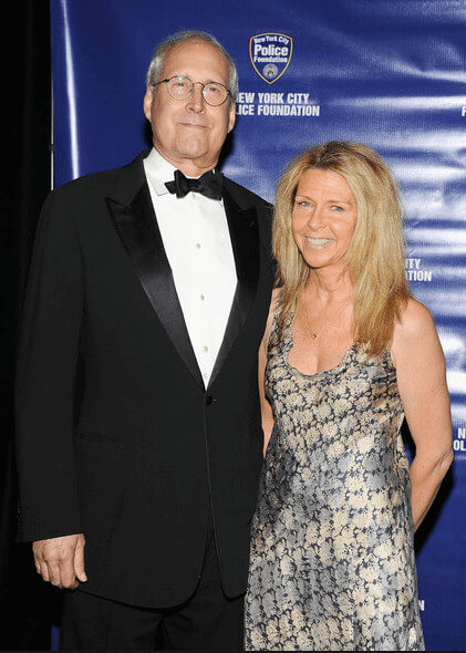 Jayni Chase With Her Husband Chevy Chase