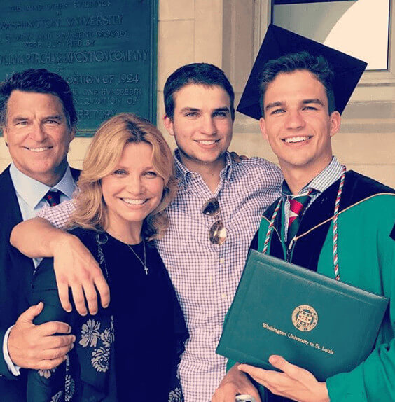 Beau Martin McGinley Family During His Graduation