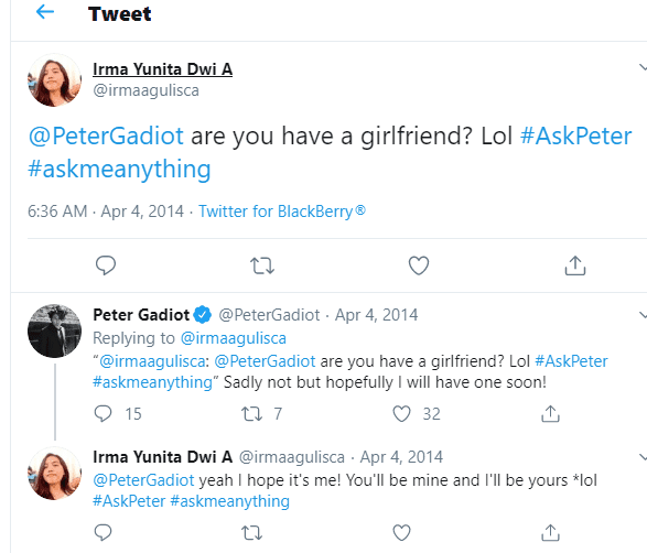Peter Gadiot Reply When Asked About His Girlfriend
