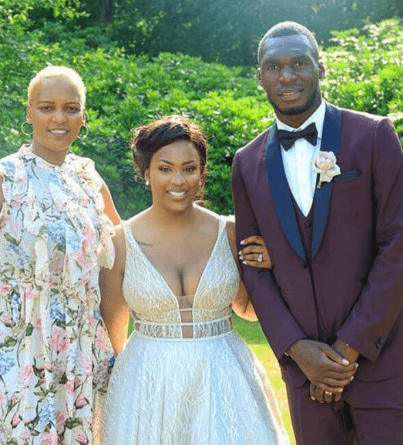 Fortune Benteke With Husband On Their Wedding