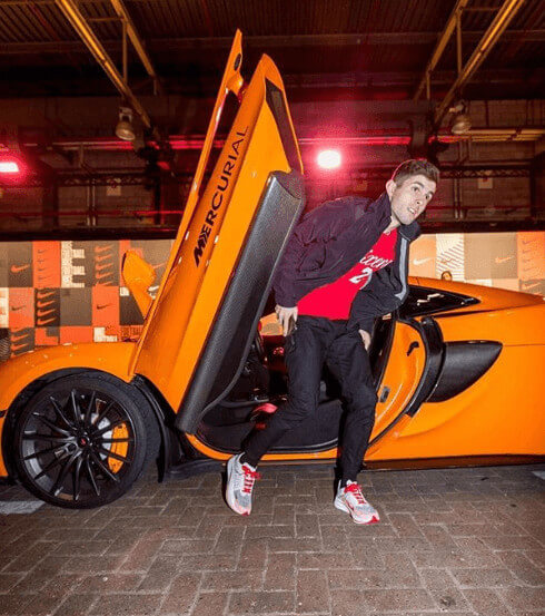 Christian Pulisic Orange Super Car