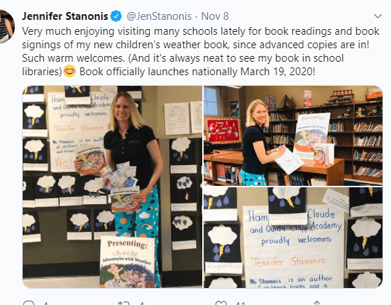 Jennifer Stanonis Enjoying At Kids School