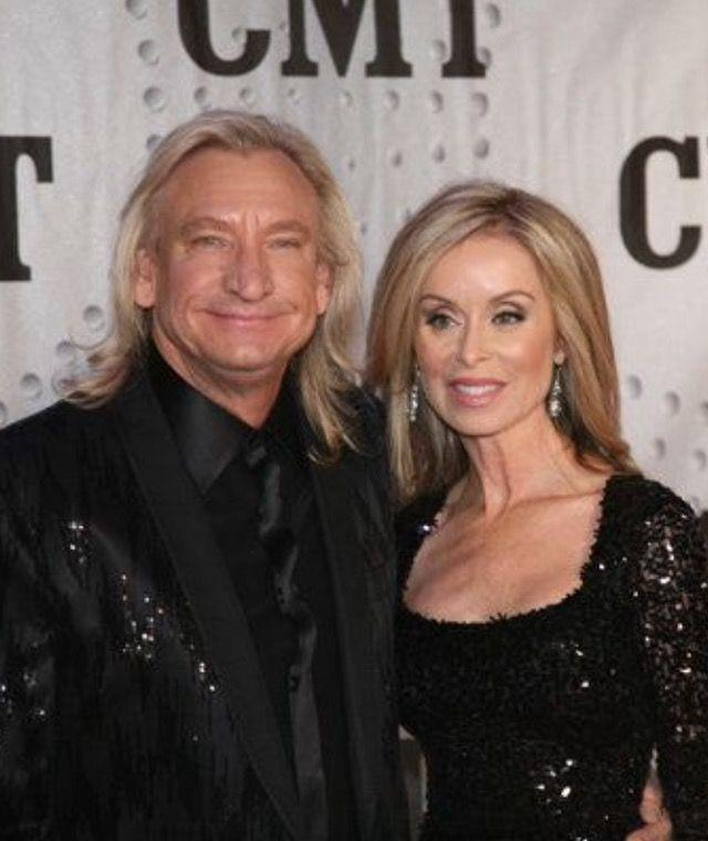 Marjorie with her husband, Joe Walsh