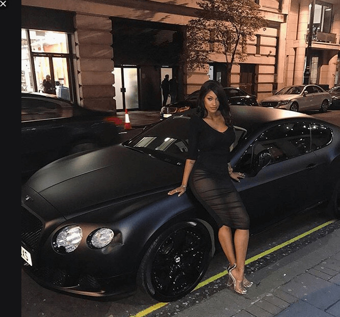 Fanny Neguesha Bentley Car