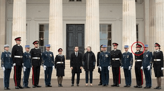 Ben, along with British Prime Minister Theresa May and the president of France Emmanuel Macron
