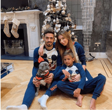 Benjamin Lanzini With Father And Mother During New Year Time