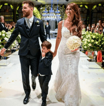Thiago Messi Roccuzzo Parents Wedding And He Was Present There