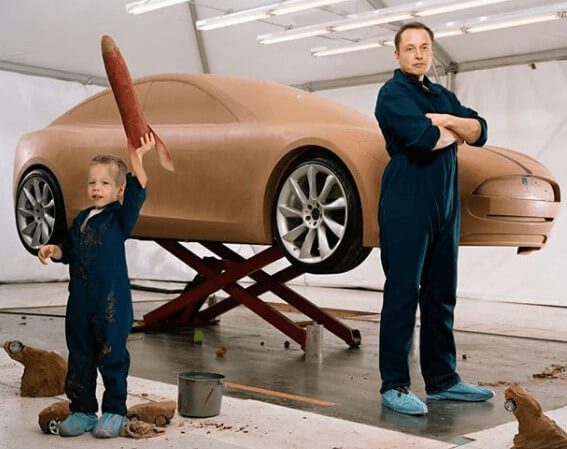 Saxon Musk With Father Elon Musk