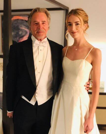 Grace Johnson with her father, Don Johnson.