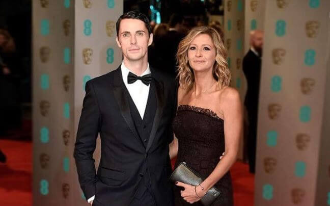 Sophie Dymoke, with her husband, Matthew Goode