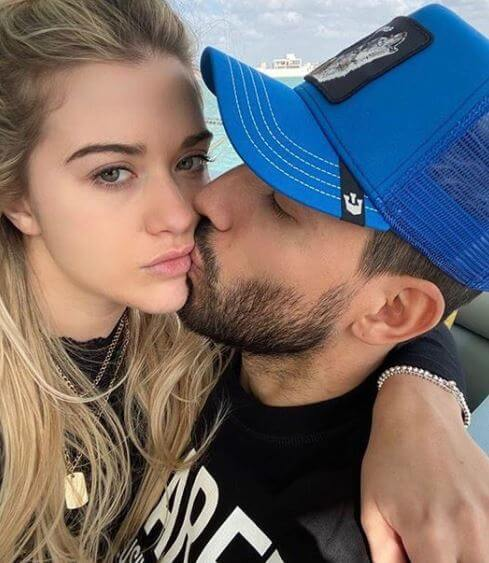 Leonel del Castillo's son, Sergio Aguero with his girlfriend, Sofia Calzetti.
