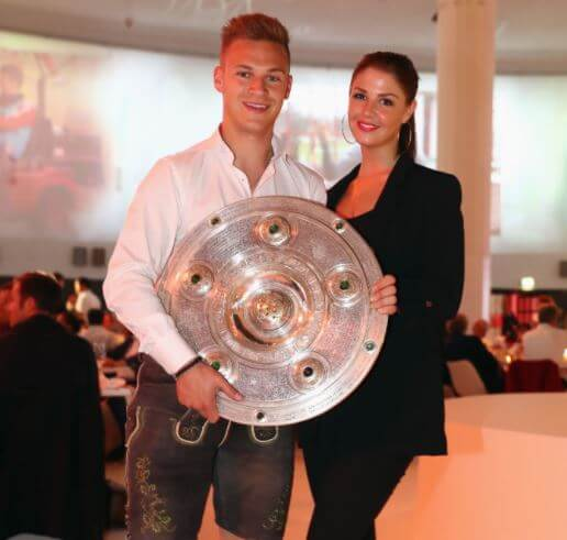 Lina Meyer with her partner, Joshua Kimmich.