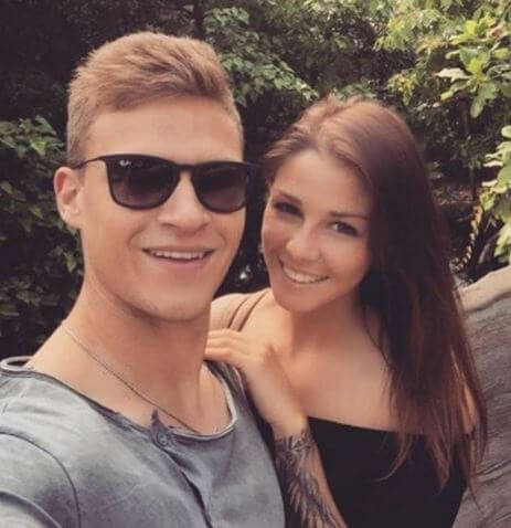 The romantic couple Lina Meyer and Joshua Kimmich.