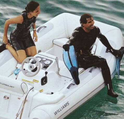 Rafael Nadal, and wife, Xisca Perello on their vacation.