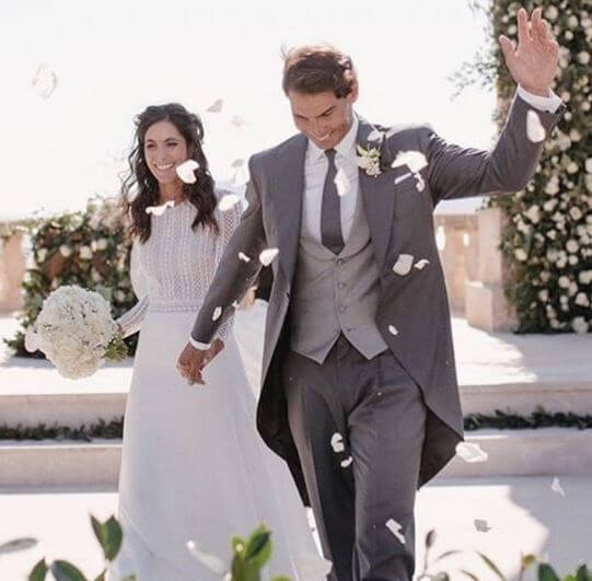 Xisca Perello and Rafael Nadal on their wedding day.