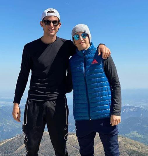 Moritz Thiem with his brother, Dominic Thiem.