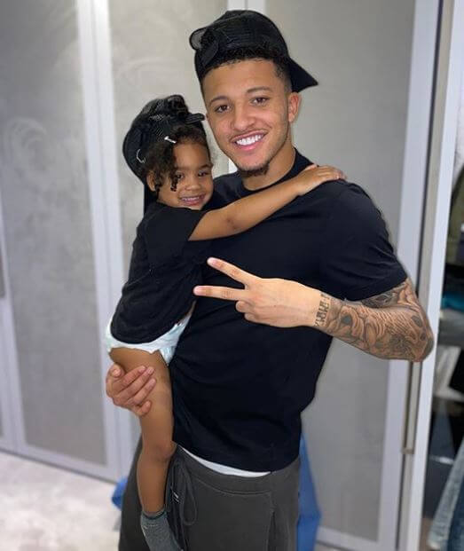 Sean Sancho's son, Jadon Sancho with his rumored daughter.