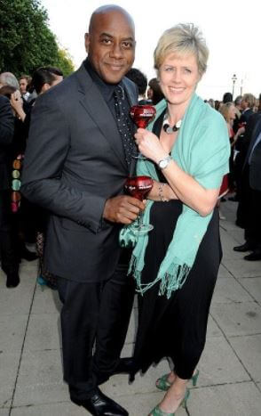 Graham Fellows's sister, Claire Fellows, with her ex-husband, Ainsley Harriott.