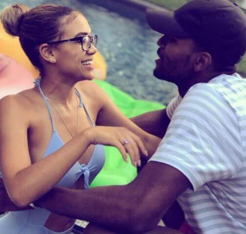 Paige Hurd with her boyfriend, Maurice Harkless.
