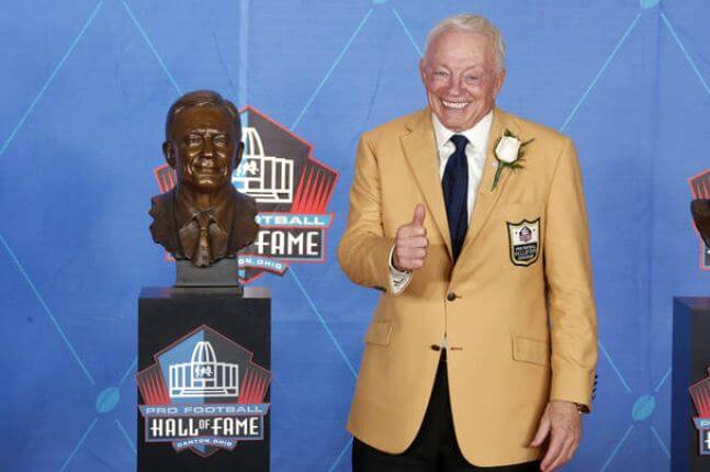 In the pro football hall of fame, Eugenia Jones's husband, Jerry Jones.