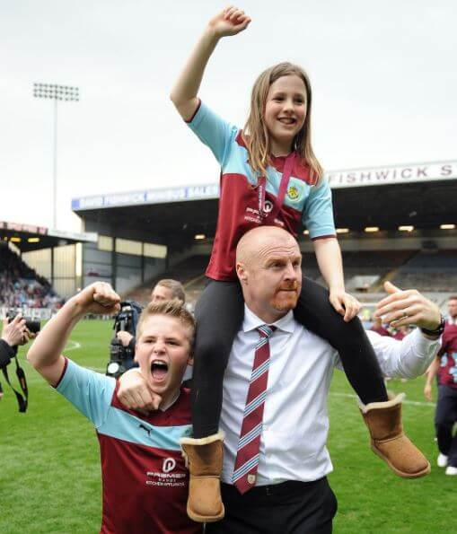 Alicia Dyche with her brother, Max Dyche, and dad, Sean Dyche.