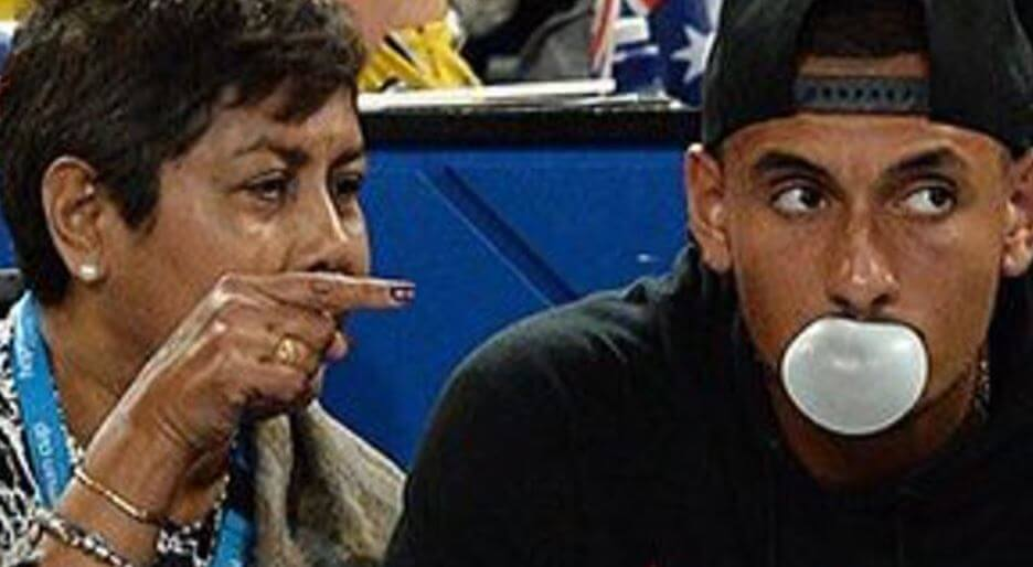 Norlaila Kyrgios with her son, Nick Kyrgios.