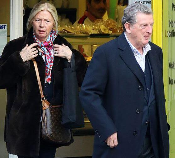 Sheila Hodgson with her husband, Roy Hodgson, taking a break from their regular work.