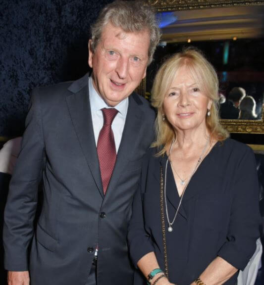 Sheila Hodgson with her husband, Roy Hodgson.