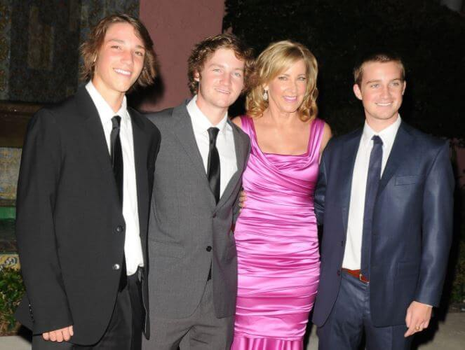 Colton Jack with his mother, Chris Evert and two brothers.