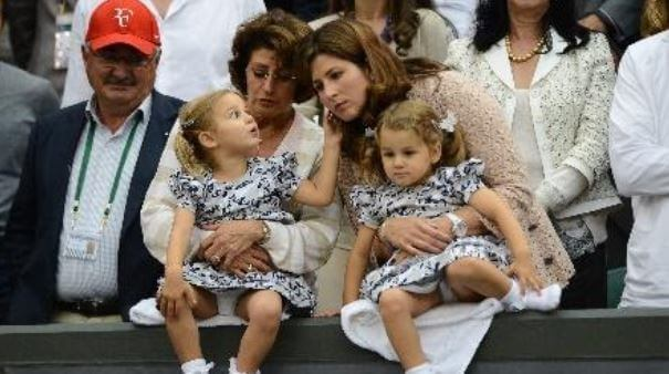Robert Federer with his wife, daughter in law and granddaughters.