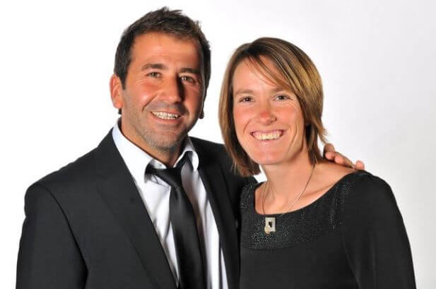 Benoit Bertuzzo with his wife, Justine Henin.