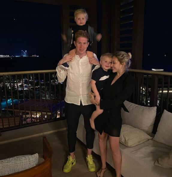 Herwig De Bruyne's son, Kevin De Bruyne with his wife and children.