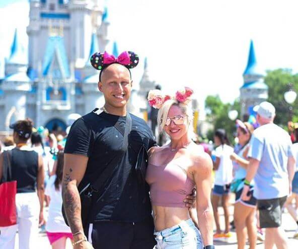 Christos Kyrgios with his fiance, Alicia Gowans at Walt Disney World.