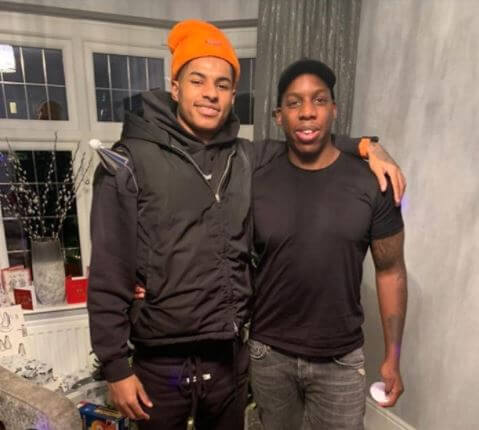Dwaine Maynard with his brother, Marcus Rashford.