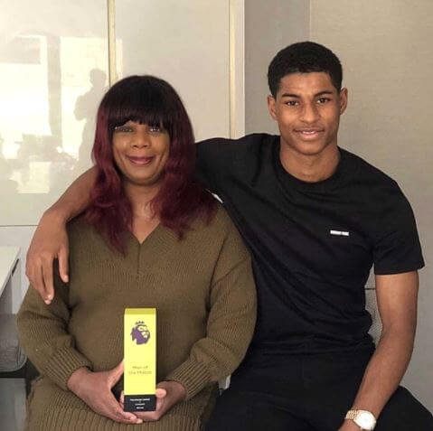 Dwaine Maynard's mother, Melanie Rashford, with brother, Marcus Rashford.