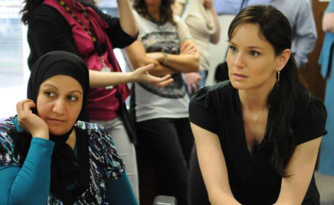 Keala Winterhalt's mother, Sarah Wayne Callies at IRC.