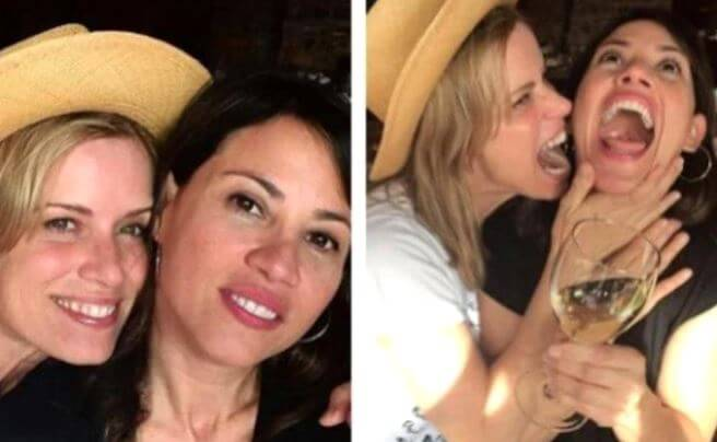 Kim Dickens with rumored girlfriend, Jill Sobule.