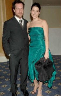 Neve Campbell with her second ex-husband John Light