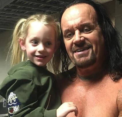 Gunner Vincent Calaway Sister Kaia With Father The Undertaker