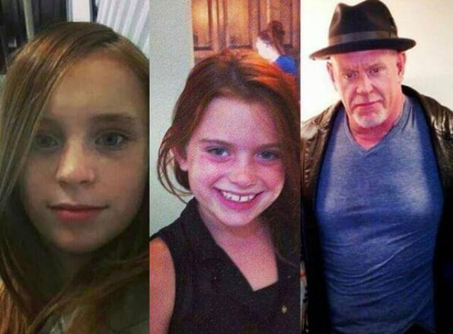 Sara Calaway's daughters, Chasey Calaway and Gracie Calaway and her ex-husband, The Undertaker.