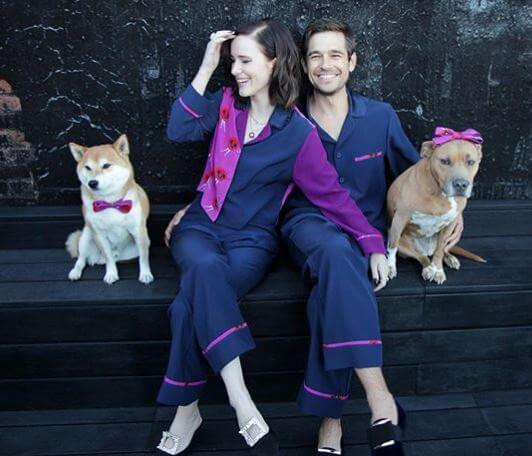 Earl Brosnahan's daughter, Rachel Brosnahan, with her husband and dogs.