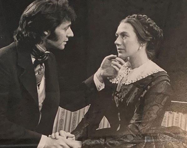 Jayne Atkinson and Michel Gill at their first show, The Heiress, at Long Wharf Theatre.