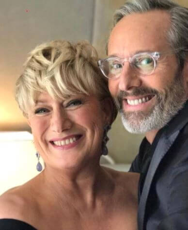 Jayne Atkinson with her husband, Michel Gill.