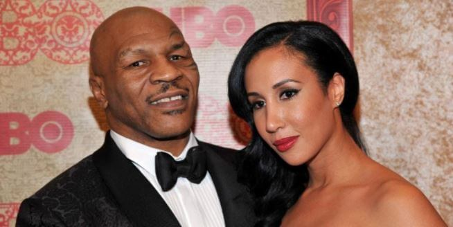 Jimmy Kirkpatrick's son, Mike Tyson, with his wife, Lakiha Spicer.