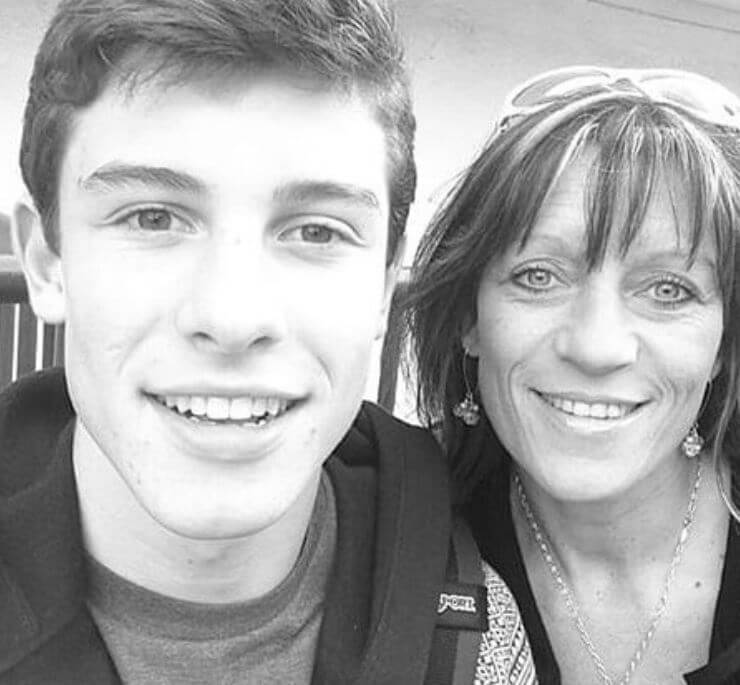 Karen Mendes with her son, Shawn Mendes.