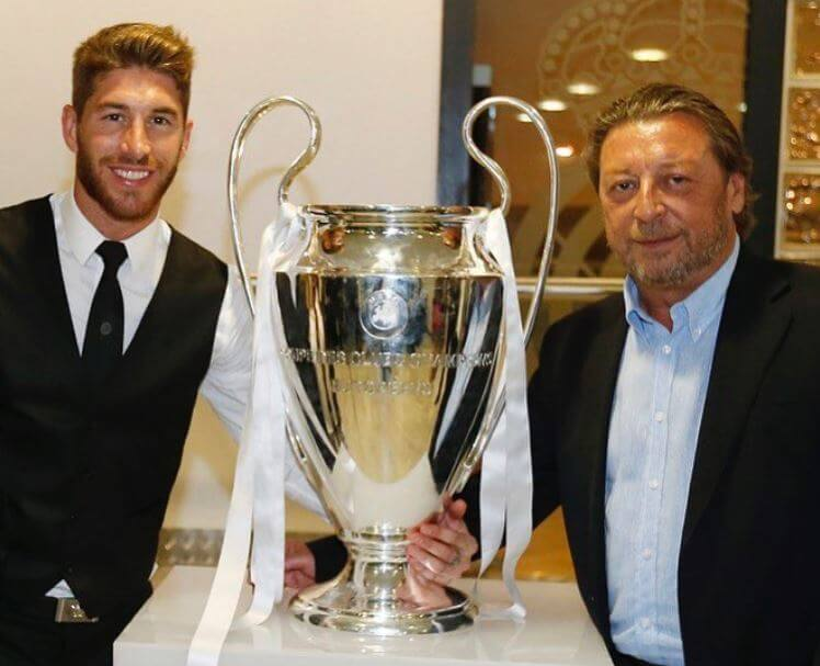Jose Maria Ramos with his son Sergio Ramos.