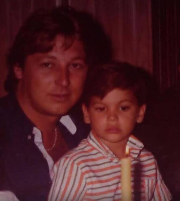 Jose Maria Ramos with his son.